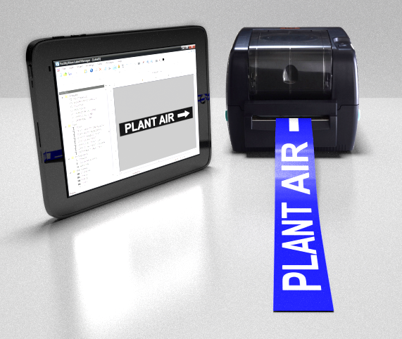 safetypro pipe labeling printer, custom, compatible software