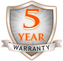 5 year warranty on parts and labels