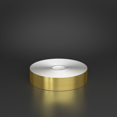 1in x 150ft Brushed Gold Metalized Film