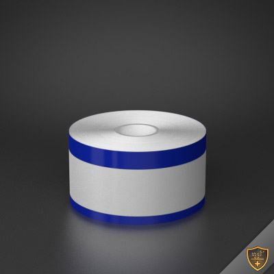 2in x 70ft Peak-Performance Continuous Double Blue Stripe