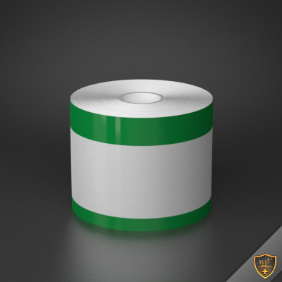 3in x 70ft Peak-Performance Continuous Double Green Stripe