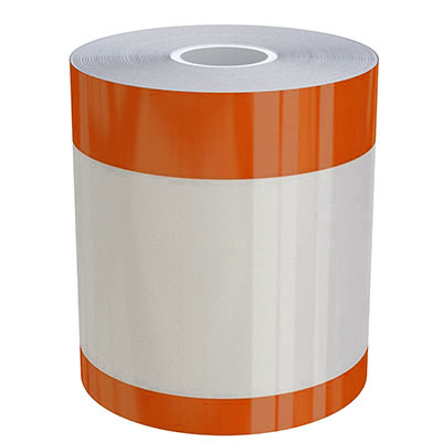 4in x 70ft Peak-Performance Continuous Double Orange Stripe
