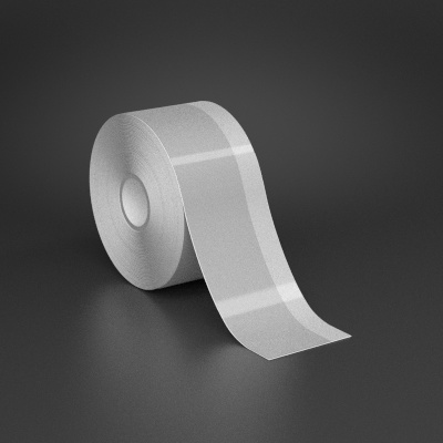 2in x 70ft Wire wraps with 0.5in printable white stripe