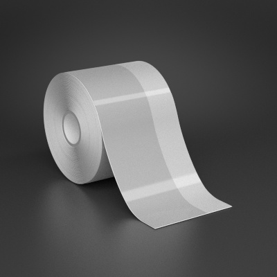 3in x 70ft Wire wraps with 1in printable white stripe