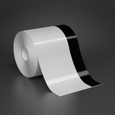 4in x 70ft Wire wraps with 1in printable black stripe