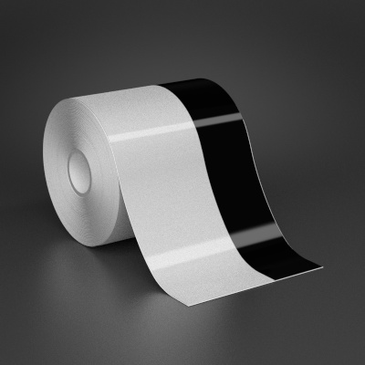 4in x 70ft Wire wraps with 1.5in printable black stripe