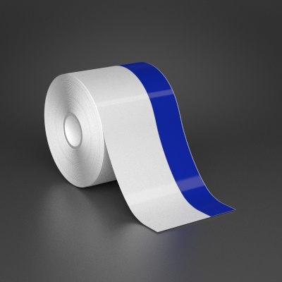 3in x 70ft Wire wraps with 1in printable blue stripe