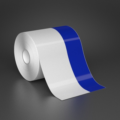 4in x 70ft Wire wraps with 1.5in printable blue stripe