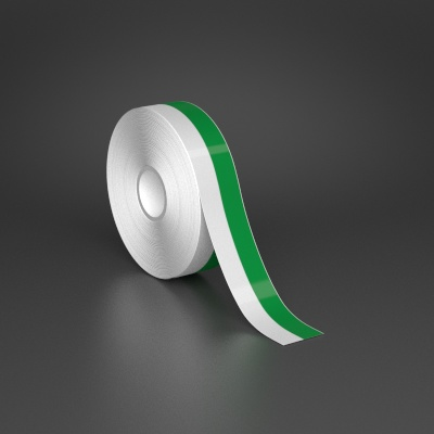 1in x 70ft Wire wraps with 0.5in printable green stripe