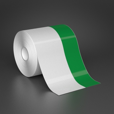 4in x 70ft Wire wraps with 1.5in printable green stripe