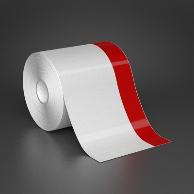 4in x 70ft Wire wraps with 1in printable red stripe
