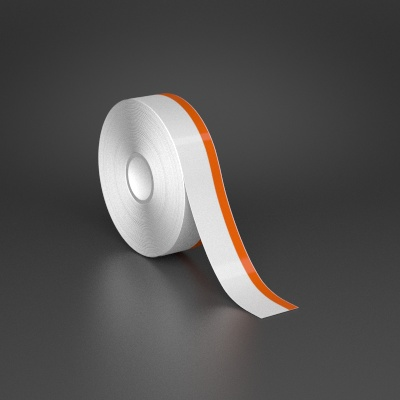 1in x 70ft Wire wraps with 0.25in printable orange stripe