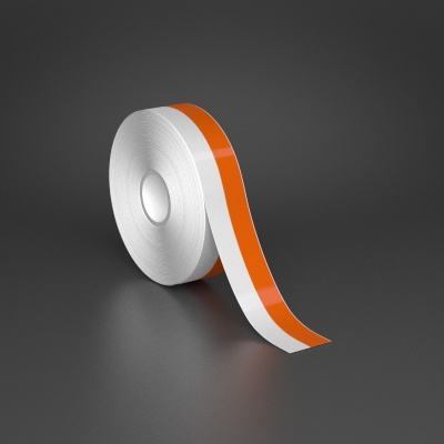 1in x 70ft Wire wraps with 0.5in printable orange stripe