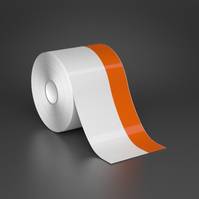 3in x 70ft Wire wraps with 1in printable orange stripe