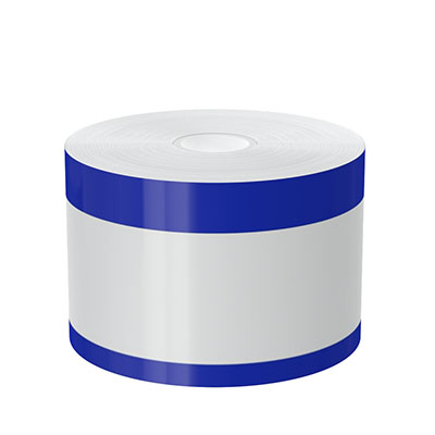 3in x 140ft Peak-Performance Continuous Double Blue Stripe