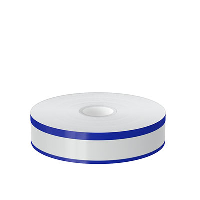 1in x 140ft Peak-Performance Continuous Double Blue Stripe