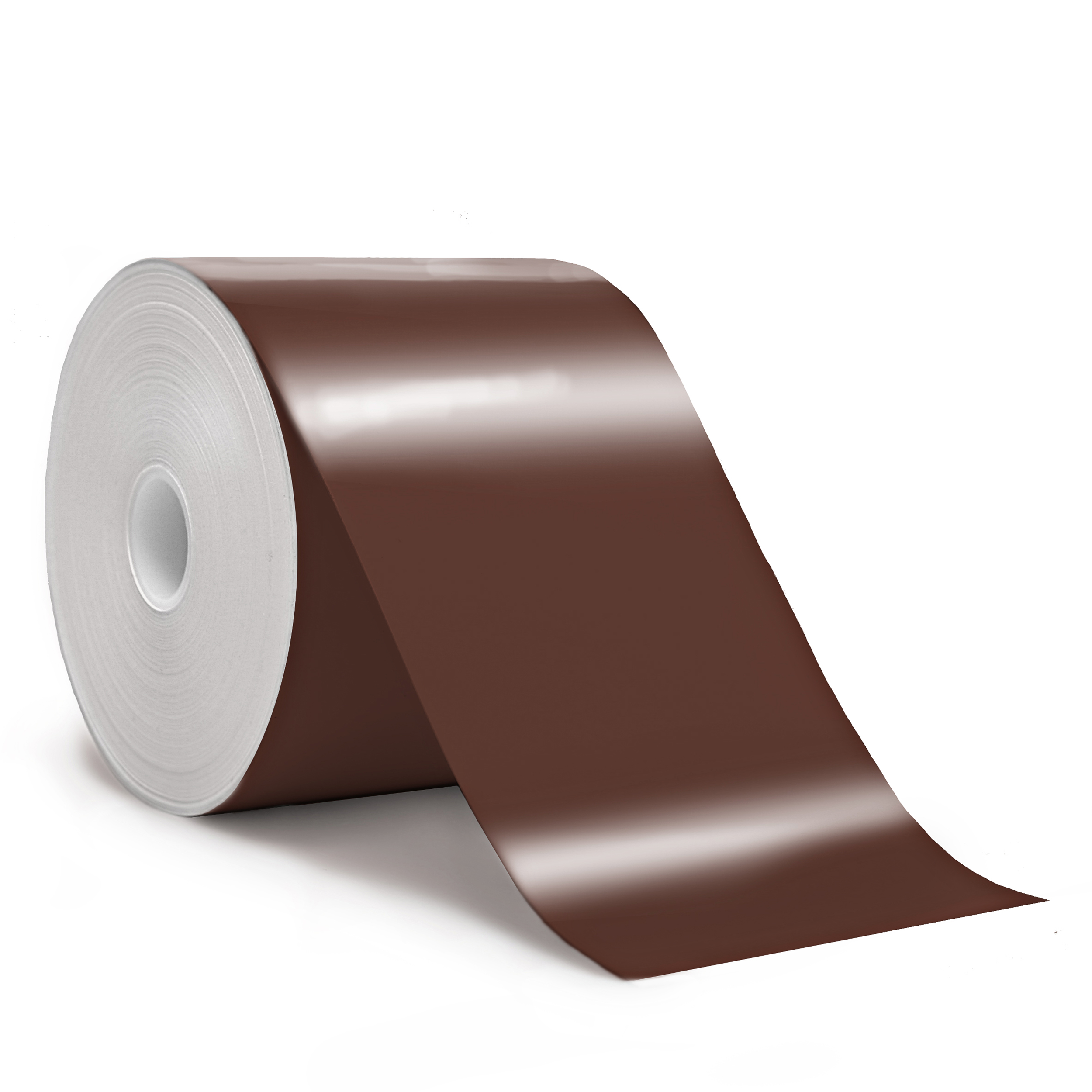 "Detail view for 4"" x 150ft Brown premium vinyl tape"