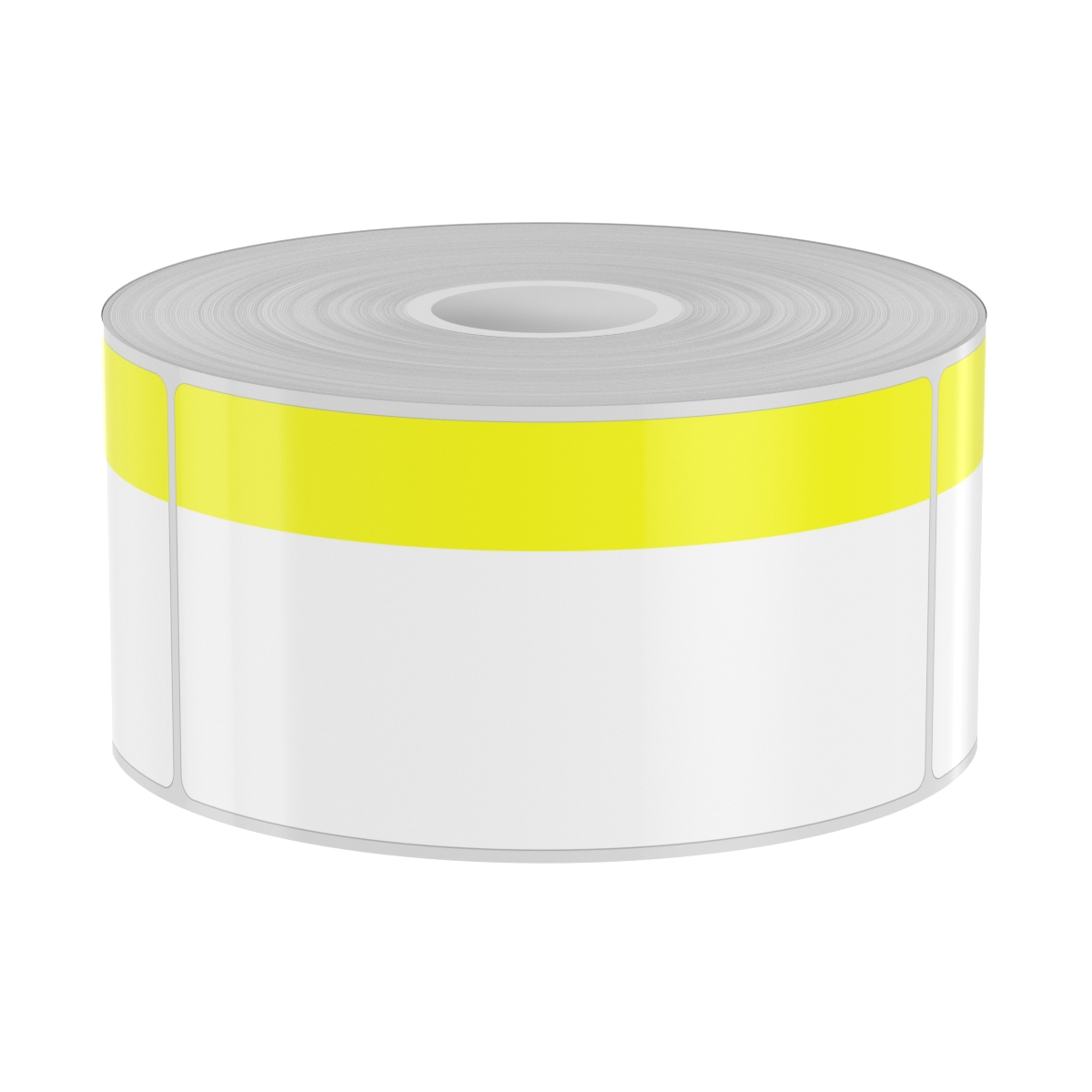 250 Blank Yellow stripe 2in x 4in