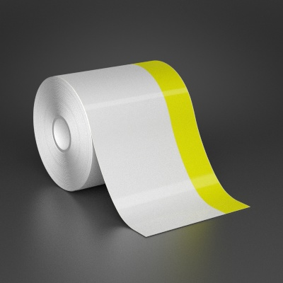 4in x 70ft Wire wraps with 1in printable yellow stripe