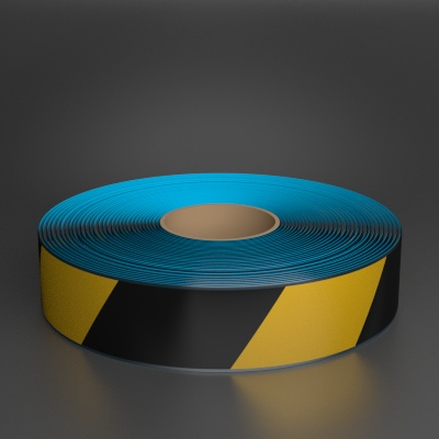 ProMark 2in x 100ft Beveled Black/Yellow Hazard Floor Tape